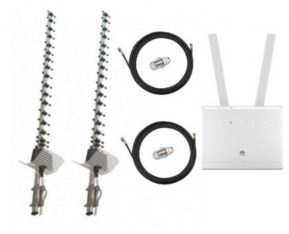 Комплект Антенна 3G/4G Double Force Mimo (2*21 Дб) + 2 кабеля 10м RG58U с коннекторами + 2 адаптера SMA + Huawei B315