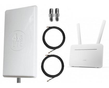 Комплект Антенна Mimo 2*24 дБи + 2 кабеля 10м RG58U с коннекторами + 2 адаптера SMA + Huawei B535