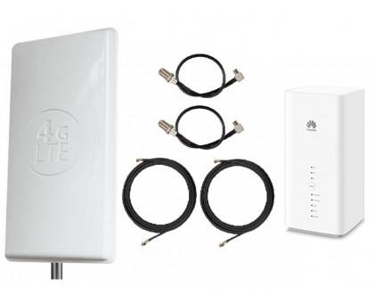 Комплект Антенна Mimo 2*24 дБи + 2 кабеля 10м RG58U с коннекторами + 2 адаптера для модема + Huawei B618