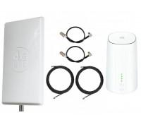 Комплект Антенна Mimo 2*24 дБи + 2 кабеля 10м RG58U с коннекторами + 2 адаптера для модема + Huawei B528