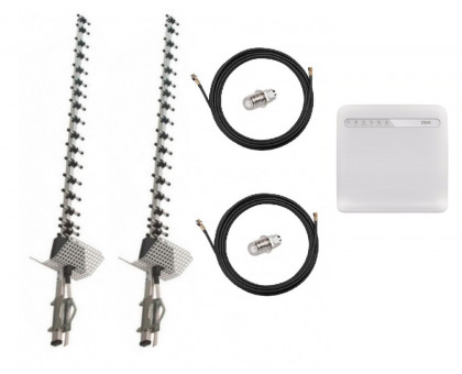 Комплект Антенна 3G/4G Double Force Mimo (2*21 Дб) + 2 кабеля 10м RG58U с коннекторами + 2 адаптера SMA + ZTE MF253