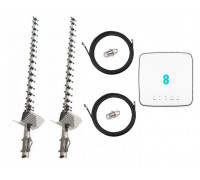 Комплект Антенна 3G/4G Double Force Mimo (2*21 Дб) + 2 кабеля 10м RG58U с коннекторами + 2 адаптера SMA + Alcatel HH70VB