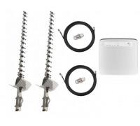 Комплект Антенна 3G/4G Double Force Mimo (2*21 Дб) + 2 кабеля 10м RG58U с коннекторами + 2 адаптера SMA + Huawei E5186s-22a stock