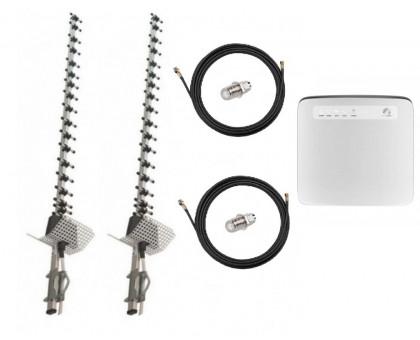 Комплект Антенна 3G/4G Double Force Mimo (2*21 Дб) + 2 кабеля 10м RG58U с коннекторами + 2 адаптера SMA + Huawei E5186s-22