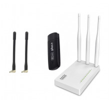 Huawei E3272s-153 + Netis MW5230 c термінальними антенами по 4 дб