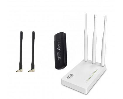 3G/4G wifi комплект для дома Huawei E3272s-153 + 2 антенны + Netis MW5230