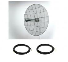 Комплект Параболической MIMO антенны Kroks KNA30-1700/2700