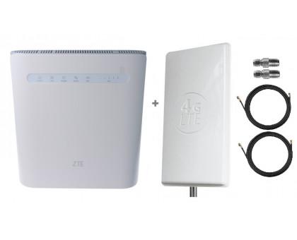 Комплект Антенна Mimo 2*24 дБи + 2 кабеля 10м RG58U с коннекторами + 2 адаптера SMA + ZTE MF286