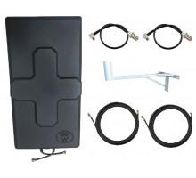 Комплект Антенна Mimo 24 дБи + 2 кабеля 10м RG58U с коннекторами + 2 адаптера для модема + кронштейн