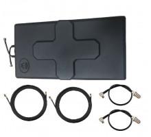 Комплект Антенна Mimo 24 дБи + 2 кабеля 10м RG58U с коннекторами + 2 адаптера для модема