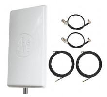 Комплект Антенна Mimo 24 дБи (Logo 4G LTE) + 2 кабеля 10м RG58U с коннекторами + 2 адаптера для модема