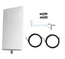 Комплект Антенна Mimo 24 дБи (Logo 4G LTE) + 2 кабеля 10м RG58U с коннекторами + 2 адаптера SMA + кронштейн